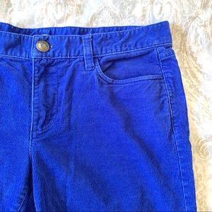 NWOT J. Crew Matchstick Corduroy Pants French Blue